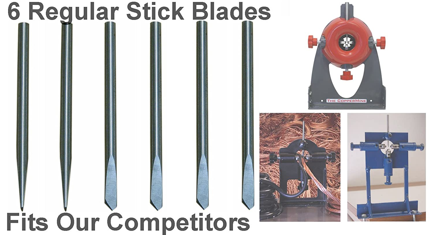 Copper Wire Stripper Replacement Blades Set of 6 =Fits All Competing ...