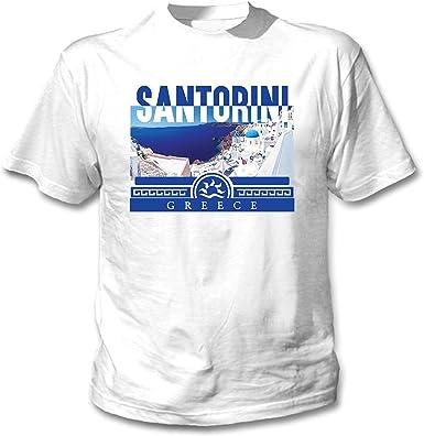 teesquare1st Santorini Greece Camiseta Blanca para Hombre de ...