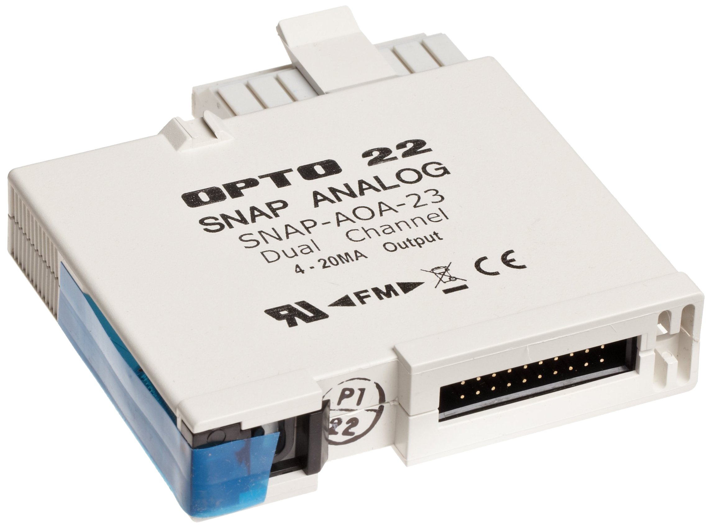 Opto 22 SNAP-AOA-23 - SNAP Current Loop Analog Output Module, 2-Channel, 4-20 mA Input 5 Volts DC (+/-0.15) at 150 mA, Output Range , 16 mA Span