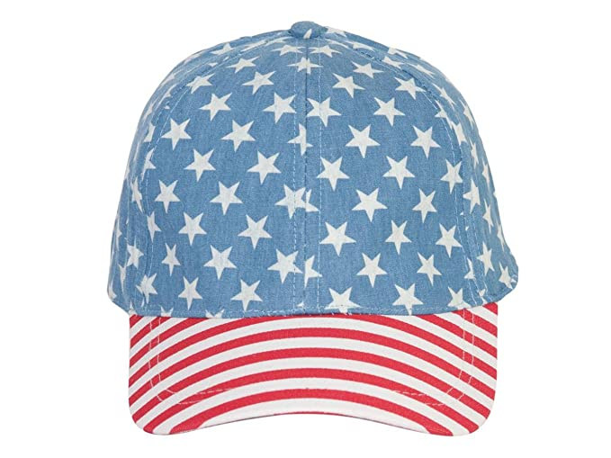 803d6b494 Dandy USA Stars and Stripes Two-Tone Snapback Cap - Blue at Amazon ...
