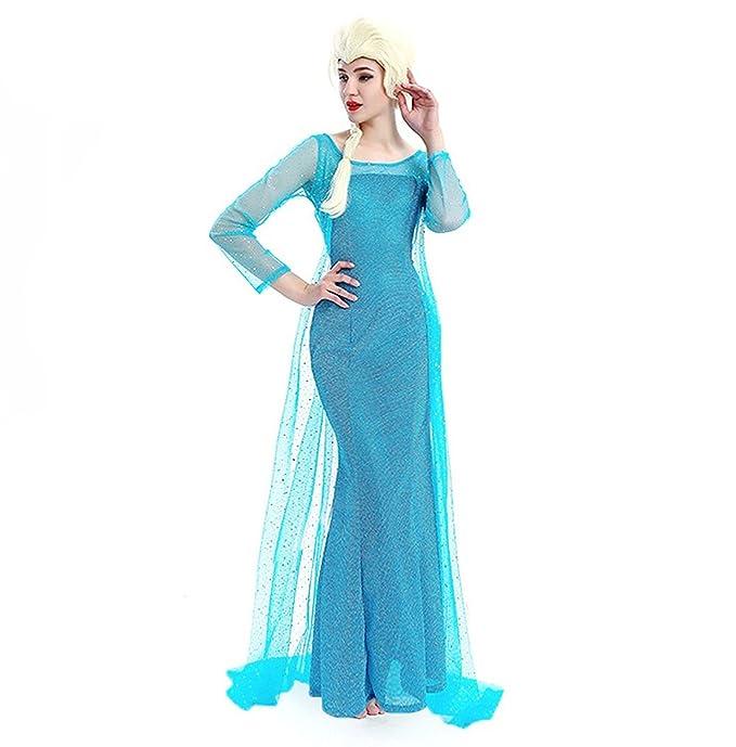 NNDOLL Disfraz DE Mujer Carnaval Princesa Vestido Elsa Vestida para Adulto de 12 años: Amazon.es: Ropa y accesorios