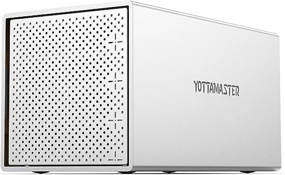 Yottamaster Aluminio Caja Raid para 4 Disco Duro de 2.5