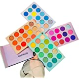 60 Colors Eyeshadow Palette, 4 in1 Color Board Makeup Palette Set Highly Pigmented Glitter Metallic Matte Shimmer…