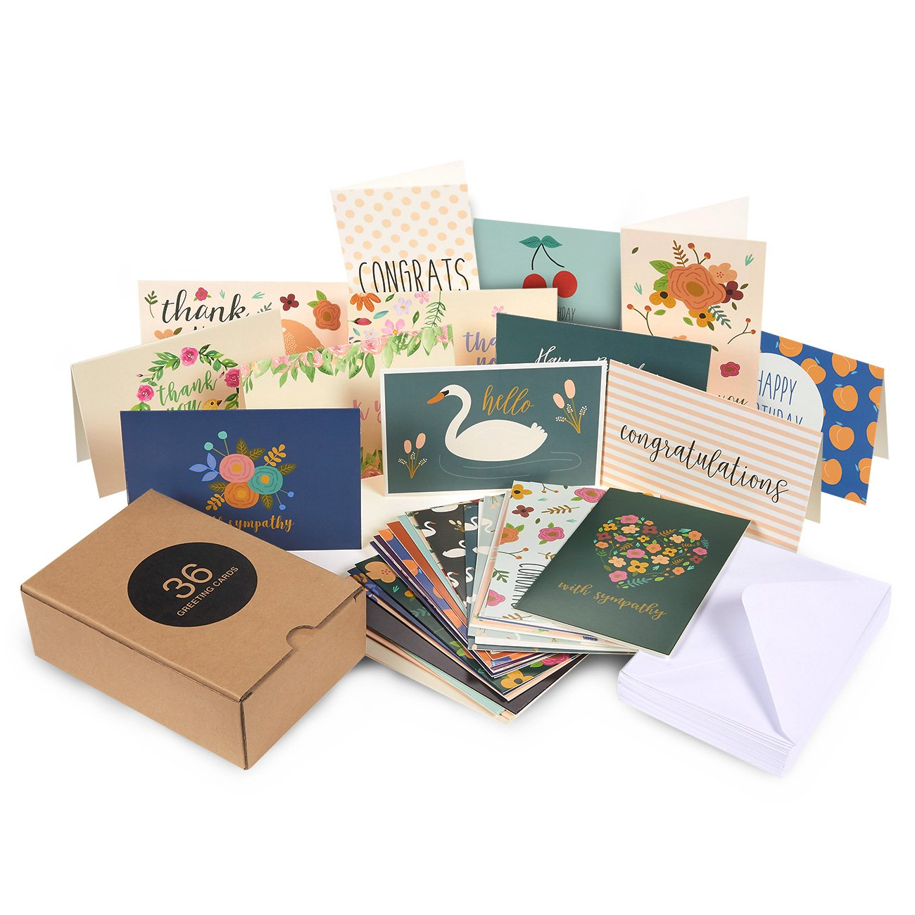 Amazon Com 36 Pack Assorted All Occasion Greeting Cards Includes
