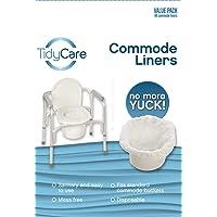 TidyCare Hygienebeutel- Vorteilspackung - Einweg-Toilettenstuhlbeutel - 48 Hygienebeutel - Toilettenstuhl für Erwachsene - Beutel für Toiletteneimer - universelle Passform