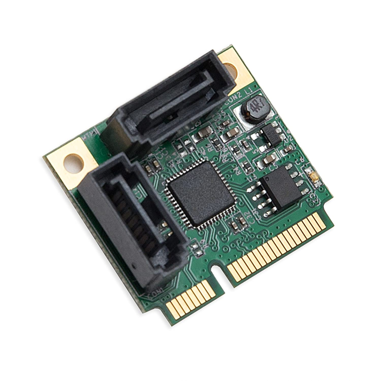 Mini PCIe a SATA III 2 Puertos Raid Adaptador ASMedia 1061R