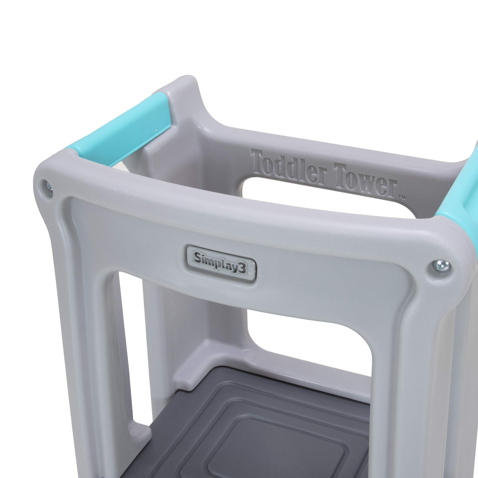 Simplay3 Toddler Tower Childrens Step Stool with Three Adjustable Heights, Gray by Simplay3 (Image #8)