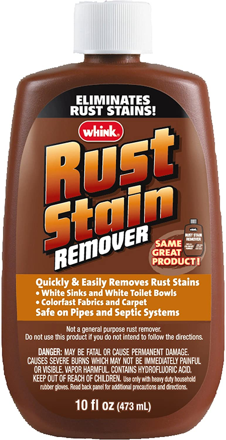 How To Clean Rust Stains Whink 1081 Rust Stain Remover 10 Oz Whink Amazoncom