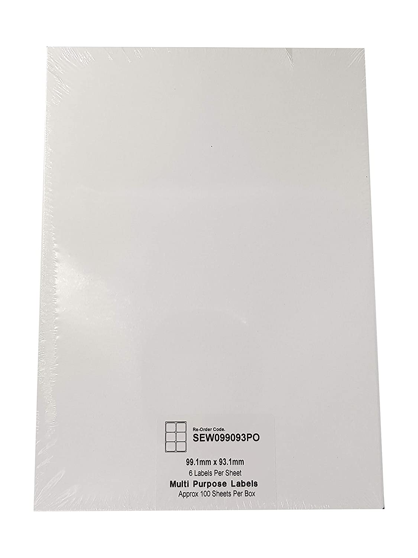Compatibili con stampanti a getto dinchiostro e laser Etichette per stampanti postali per indirizzi autoadesivi EJRange 100, 24 etichette per foglio Etichette adesive stampabili