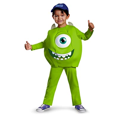 Disney Pixar Monsters University Mike Toddler Deluxe Costume, Small/2T: Toys & Games