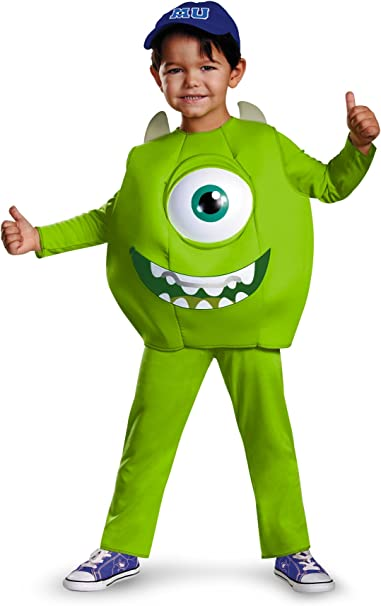 Amazon Com Disney Pixar Monsters University Mike Toddler Deluxe Costume Small 2t Toys Games
