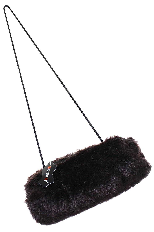 Sonia Originelli Muff Pelzmuff Handwärmer kuschelig warm weich mit Portemonnaie Kunstfell B002 (braun)