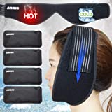 Ice Pack for Jaw, Chin, Face Head - Hot Cold Therapy Wrap with Reusable Gel Pack for Pain Relief of Face, Wisdom Teeth…