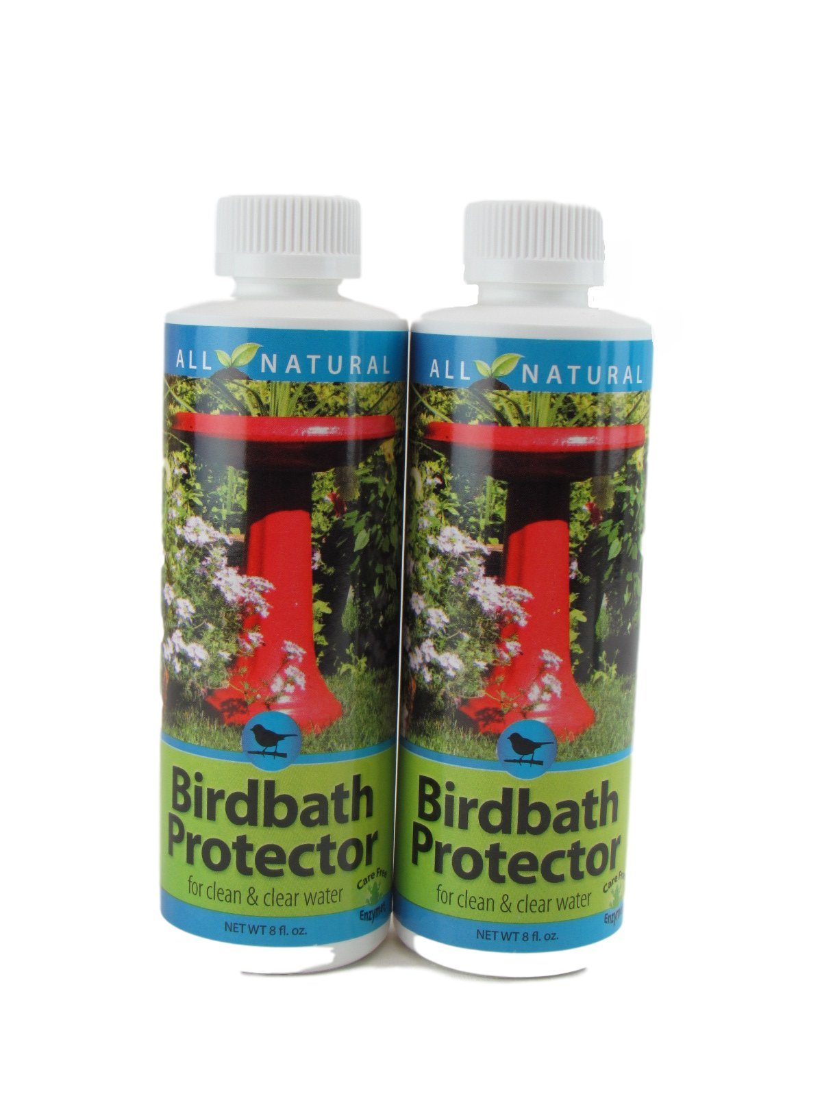 2 Pack 8 Oz Care Free Enzymes Birdbath Protector Made in USA 95880DS