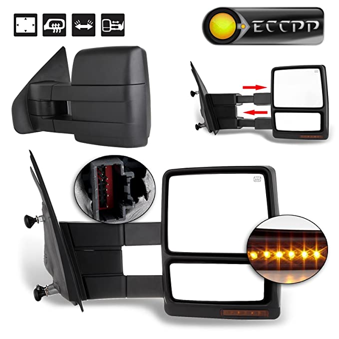ECCPP Power Heated Turn Signal Puddle Lamps Passenger Side Mirror Replacement fit for 2007 08 09 10 11 12 13 14 Ford F-150 Pickup