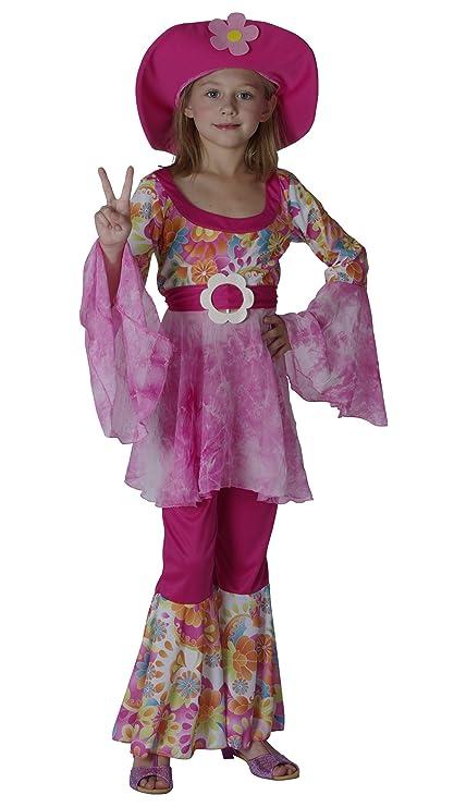 Disfraz de hippie para niña: Amazon.es: Juguetes y juegos