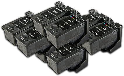 PG, 512 ML, 513 COMPATIBLES Non OEM Ink 8 Cartuchos para Impresora ...