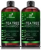ArtNaturals Tea-Tree-Öl Shampoo und Conditioner-Set - 2 x 16oz - sulfatfrei - mit Therapeutic Grade Tea Tree ätherisches Öl - Tiefenreinigung für Schuppen, trockene Kopfhaut und juckende Haare - Männer und Frauen