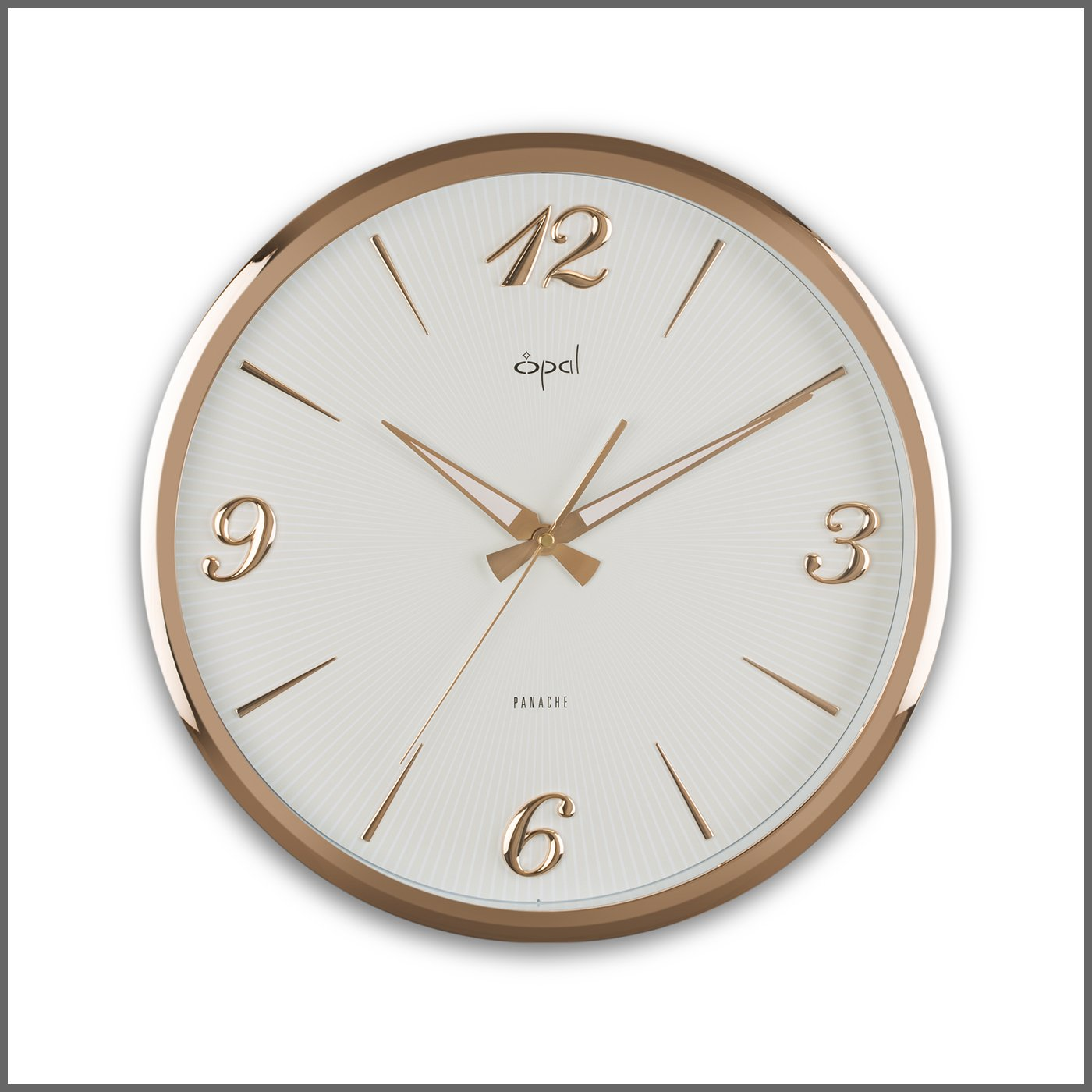 Buy opal designer abs wall clock 56 cm x 56 cm x 11cm rose gold buy opal designer abs wall clock 56 cm x 56 cm x 11cm rose gold online at low prices in india amazon amipublicfo Choice Image