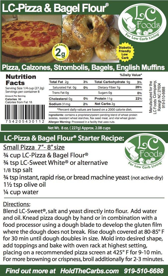 Low Carb Pizza & Bagel Flour (1 LB) - LC Foods - All Natural - No Sugar - Diabetic Friendly