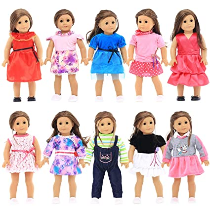ed766f671 Amazon.com: Party Zealot 10 Sets 18 in Doll Clothes for Our Generation Doll,  My Generation Doll, American Girl Doll, and My Life Doll: Toys & Games