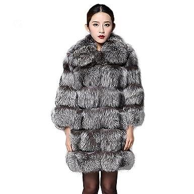Fur Story 151212B para Mujer Largo Real Piel de Zorro Abrigo 38: Amazon.es: Ropa y accesorios