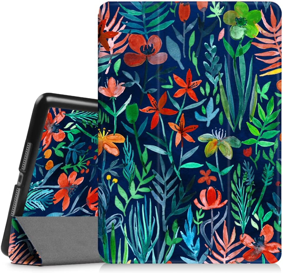 "Fintie Case for iPad Air 2 9.7"" - [SlimShell] Ultra Lightweight Stand Smart Protective Cover with Auto Sleep/Wake Feature for iPad Air 2, Jungle Night"