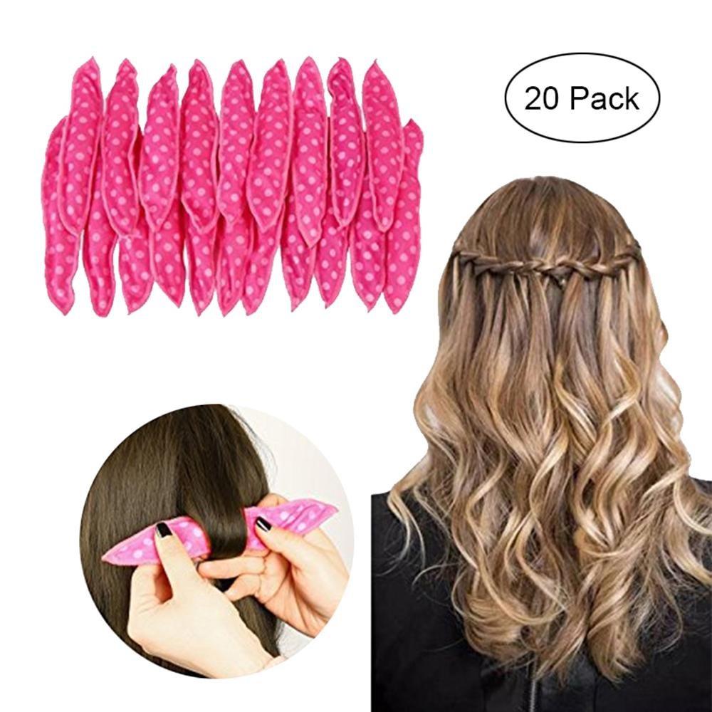 Aolvo 20PCS Hair Curlers Rollers Magic Sponge Pillow Soft Roller Flexible Foam and Sponge Hair Curlers DIY Styling Hair Rollers Tool for Women Girl