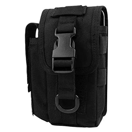 637fbdf1b2 IronSeals 1000D Nylon Smartphone Holster Outdoor Tool Waist Pouch Case with  Belt Loop   Belt Latch