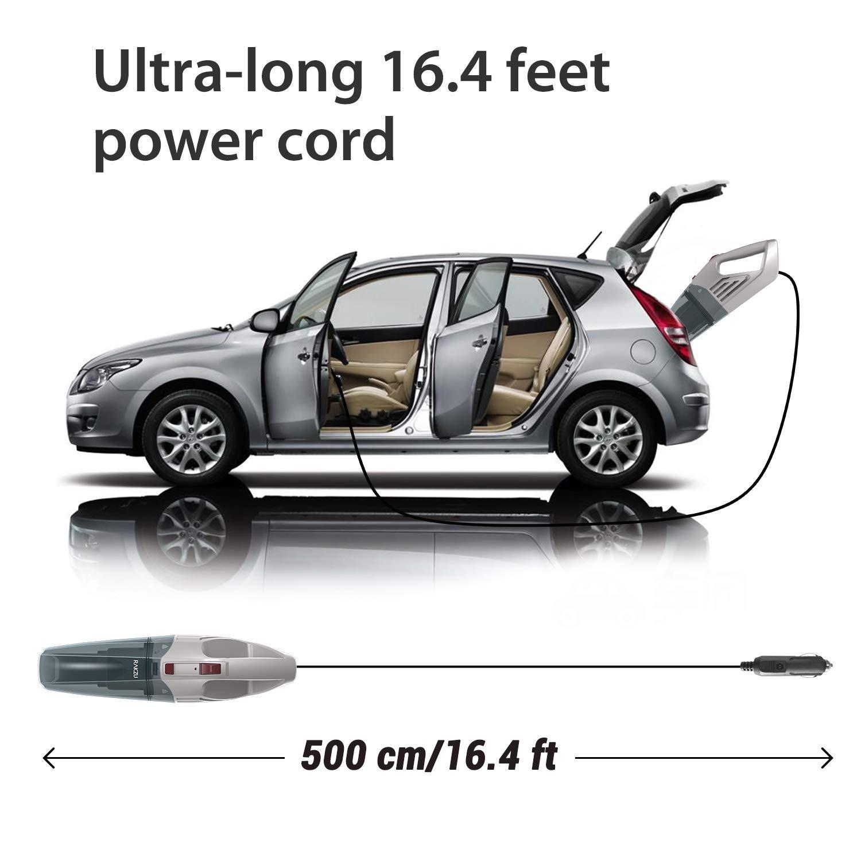 Esky Aspiradora de autom/óvil RAKZU Aspiradora autom/ática port/átil de Alta Potencia para Uso en seco//h/úmedo en su autom/óvil Incluye Cable de alimentaci/ón de 5 Metros y Bolsa de Transporte