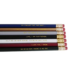 Star Wars Gift Pencil Set Funny Pencils with Quotes Gift for Student Office Gift Jedi Gift