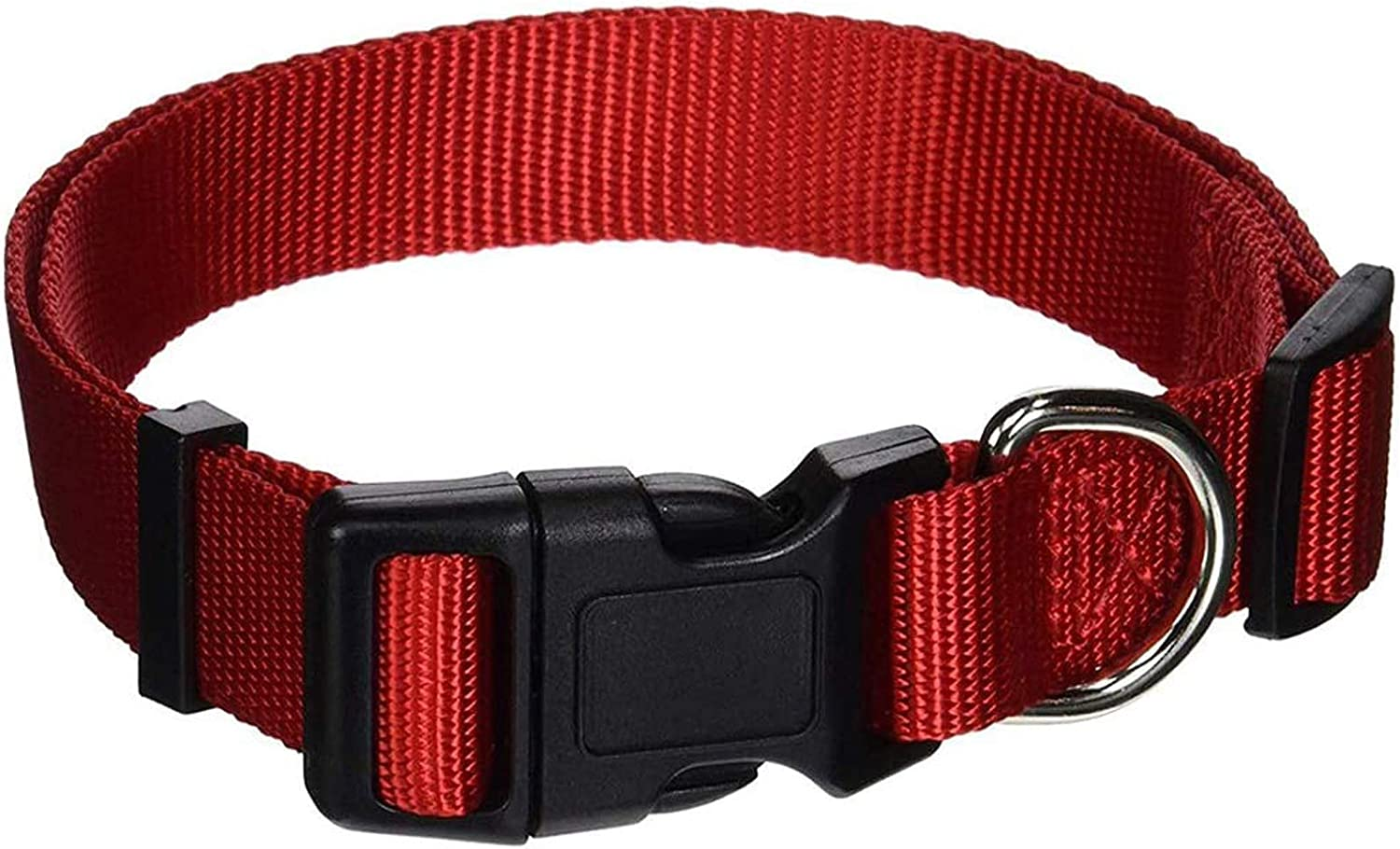 AEDILYS Adjustable Nylon Dog Collar Classic Solid Colors for Small Sized Dogs Neck, Multicolor: Sports & Outdoors