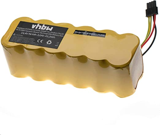 vhbw Batería Ni-MH 2000mAh (14.4V) para robot aspidador doméstico ...