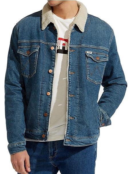 39a82da978a Sherpa Jacket Wrangler - Chaqueta - para Hombre Verde Green Room XL   Amazon.es