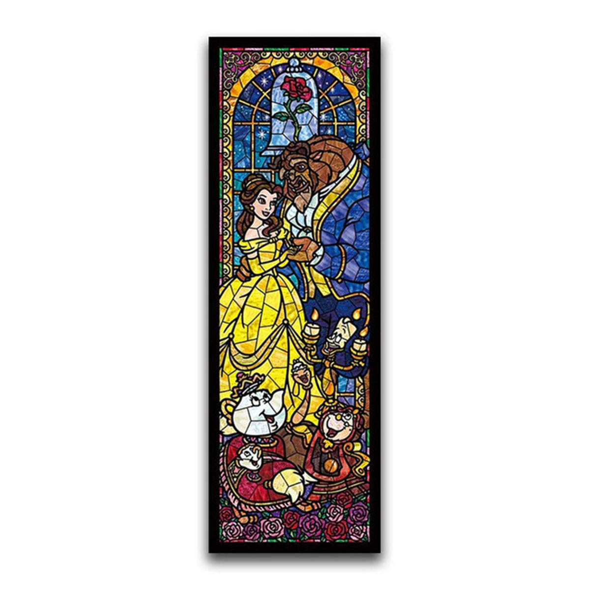 7.9x23.6inch//20x60cm Leezeshaw 5D DIY Diamond Painting by Number Kits Fameless Rhinestone Embroidery Paintings Pictures for Home Decor Beauty and The Beast
