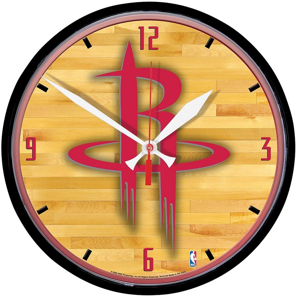 Amazon.com : NBA 2907881 Houston Rockets Round Wall Clock, 12.75 ...