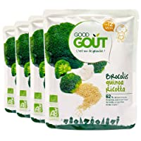 Good Goût - BIO - Brocolis Quinoa Ricotta dès 12 Mois 220 g - Lot de 4