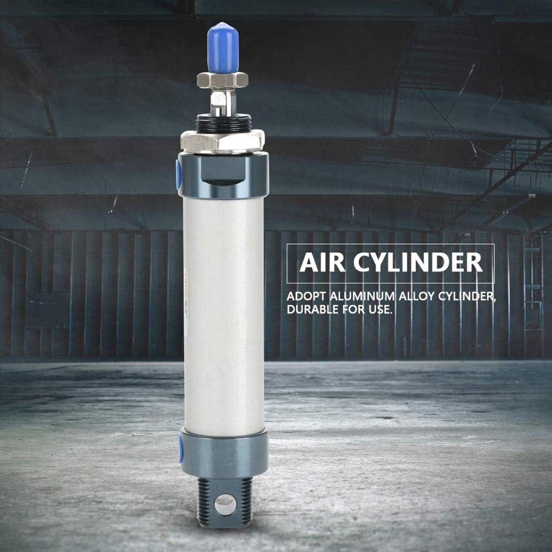 PRINDIY Simple Tige pneumatique Mini v/érin pneumatique Double Effet Minitype Cylindre dair de 25 mm al/ésage 50 mm Course 25x50mm