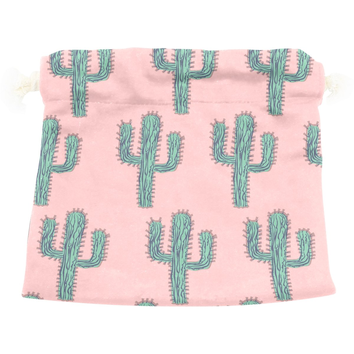 Dragon Sword Green Cactus Forest Gift Bags Jewelry Drawstring Pouches for Wedding Party, 6x8 Inch