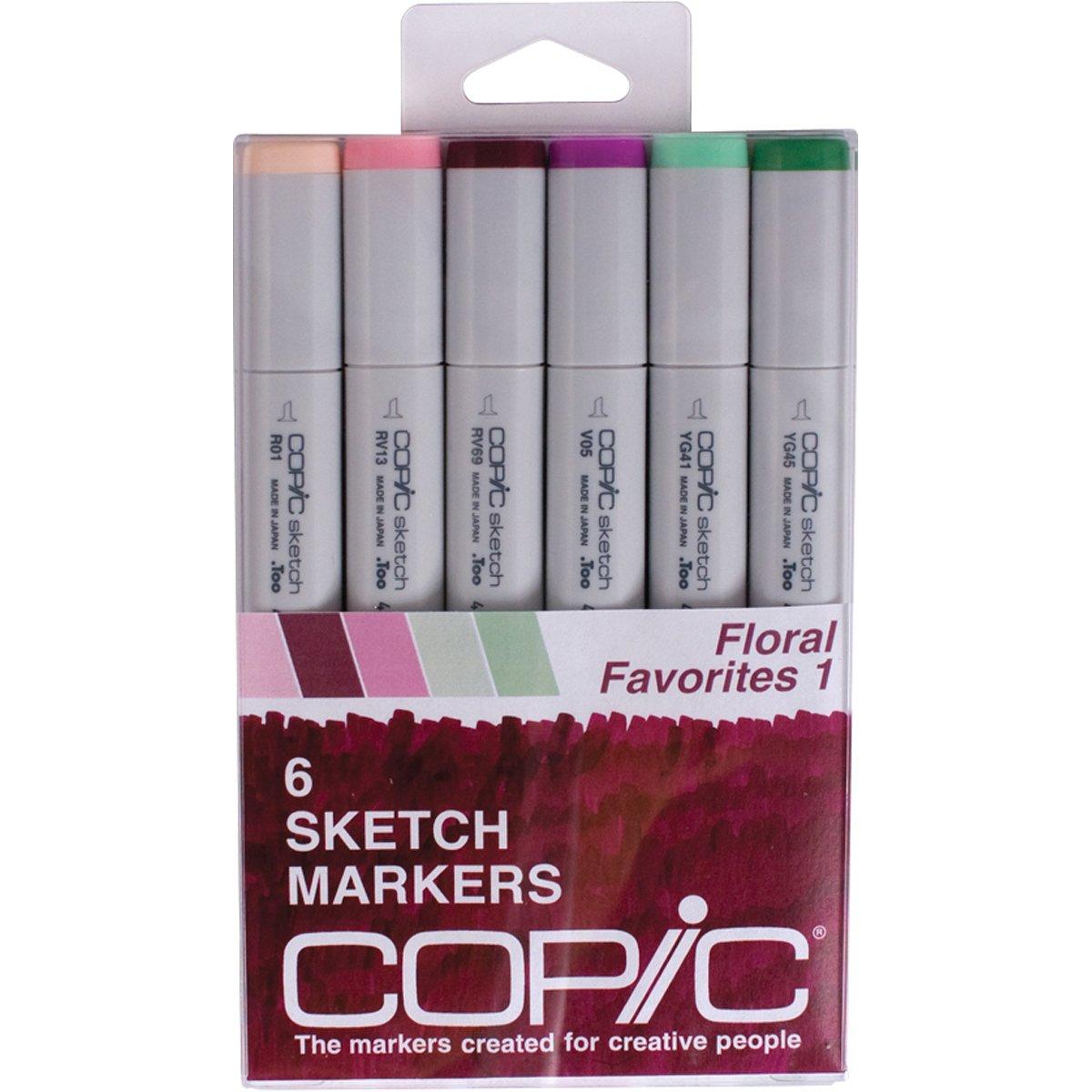 Copic Sketch Marker fibrones de colores set de 6