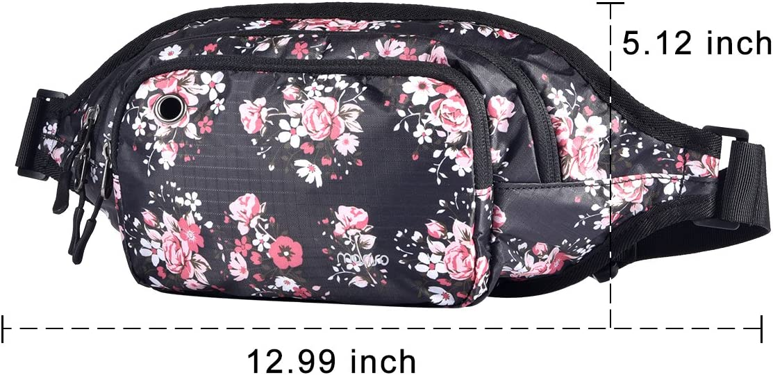 Polyester Water Repellent Unisex Outdoor Hiking Travel Sports Running Belt Bum Bag Fanny Money Hip Purse Pouch with Adjustable Band MOSISO Waist Pack