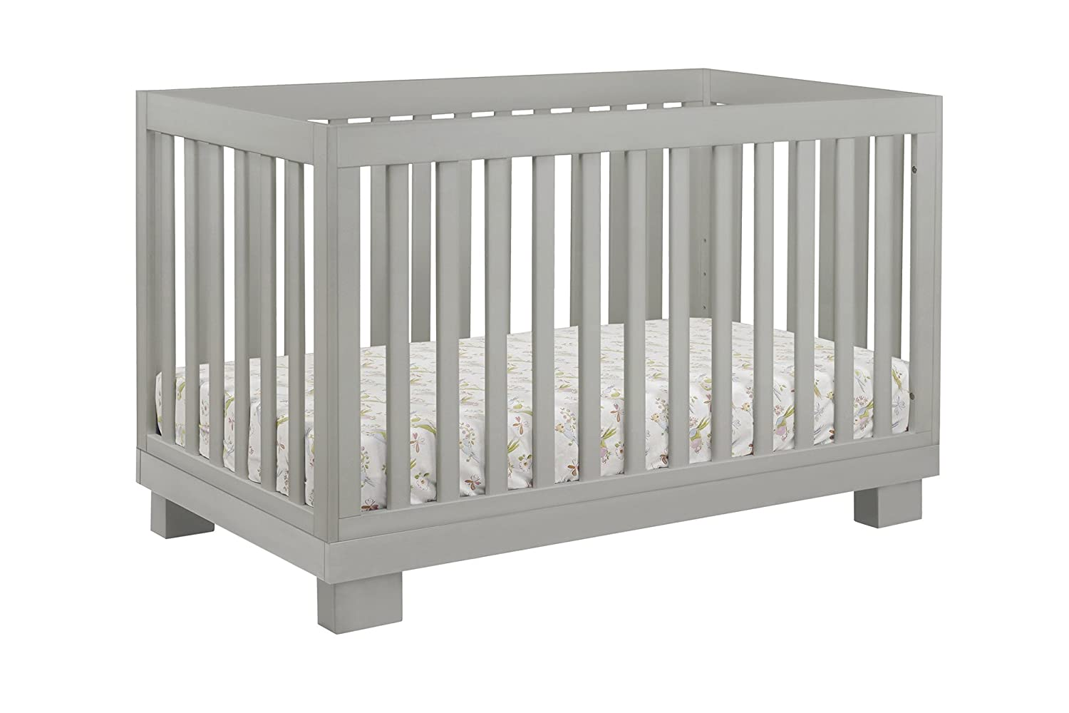 ... Babyletto Modo 3 In 1 Convertible Crib With Toddler Bed Conversion Kit,  Grey
