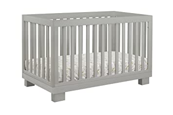 babyletto modo 3in1 convertible crib with toddler bed conversion kit grey