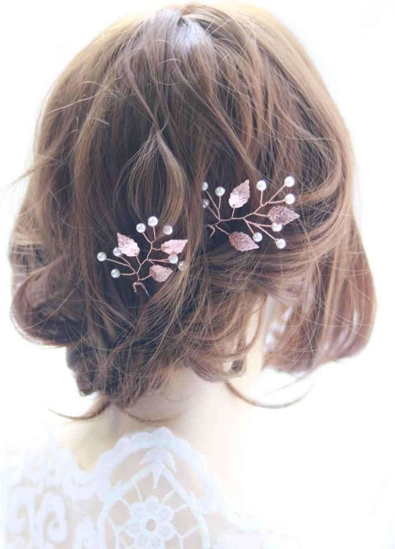 color plateado y oro rosa Tiara de novia con diamantes de imitaci/ón Deniferymake-up accesorio para el pelo para mujer