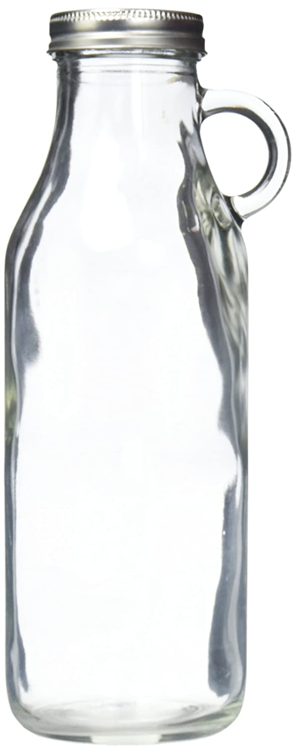 Style Setter 206438-3GB Glass Milk Bottles Set of 3, Clear