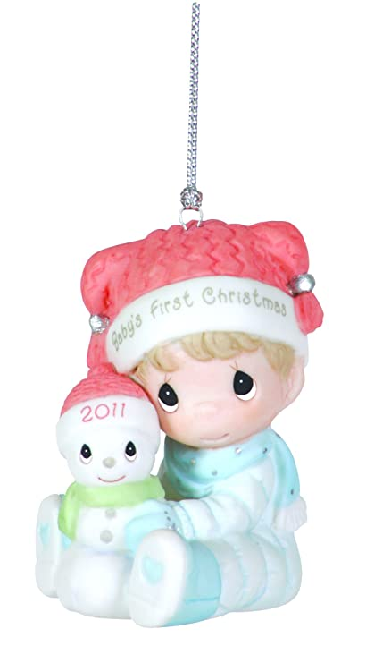 Precious Moments , 2011 Dated Ornament Baby's First Christmas Boy - Amazon.com: Precious Moments , 2011 Dated Ornament Baby's First
