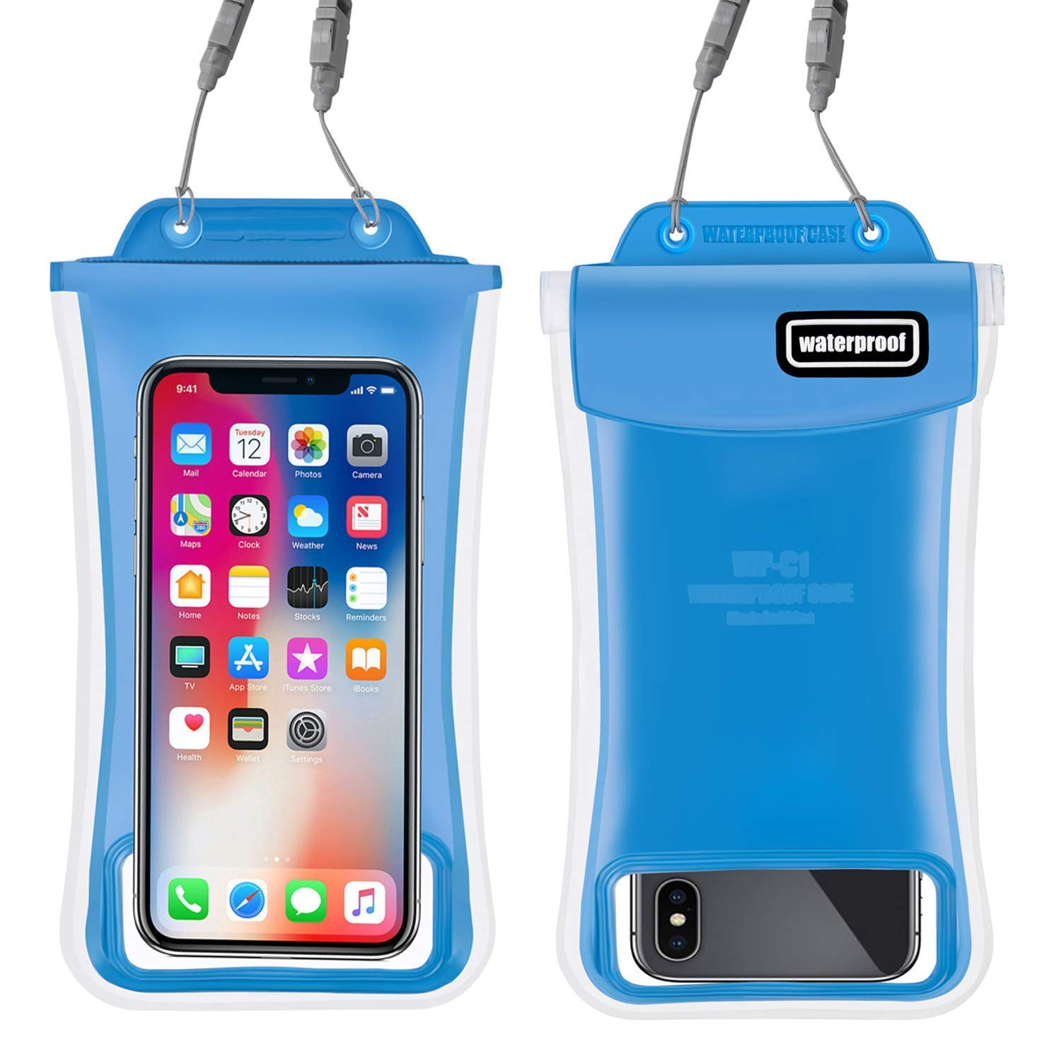 Waterproof Phone Pouch,2Pack Floating Gihery Universal Cellphone Waterproof Pouch Case IPX8 Certified Dry Bag Compatible with iPhone XsMax/Xs/Xr/X/8Plus/8/7Plus/7/6s/6 Samsung Galaxy S10/S10Plus/S9 by Gihery