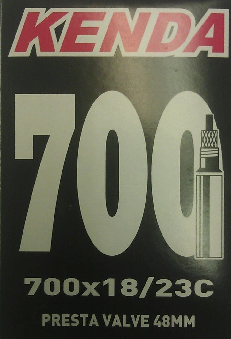 Kenda 700 x 18//23 C with 48 mm valve Tube Presta Cycle Force Group KE02289130