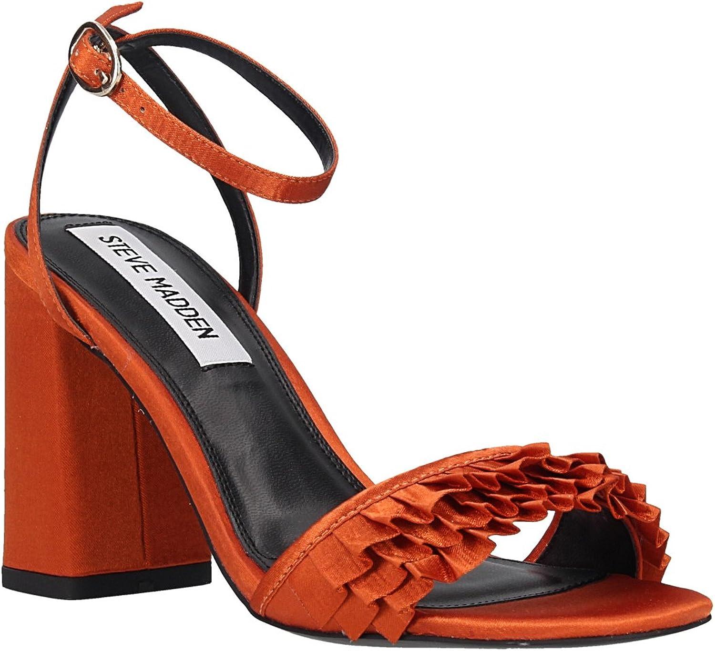 patio El otro día Intolerable  Steve Madden Sandalias Tacón Flecos Naranja y Amarilla de: Amazon.es:  Zapatos y complementos