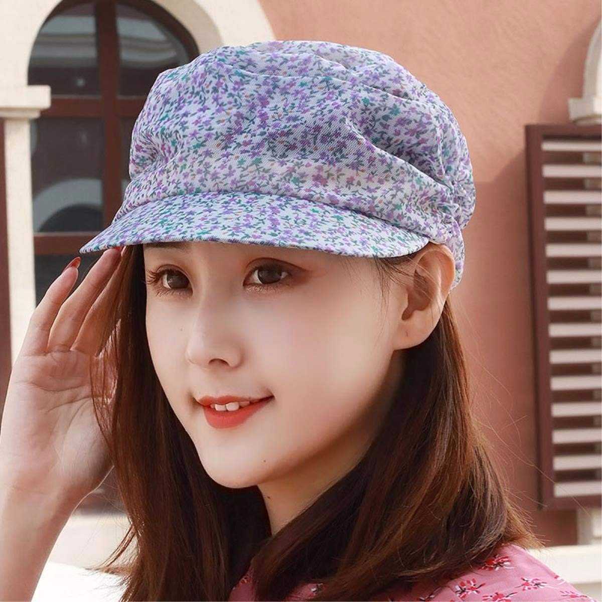 D BRNEBN Female spring and summer cap flat top hat stylish visor outdoor alpine hat CLOTH HAT